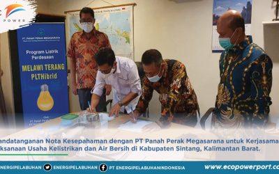 Penandatanganan Nota Kesepahaman Pelaksanaan Usaha Kelistrikan dan Air Bersih
